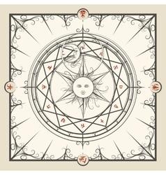 Alchemy magic circle vector image vector image