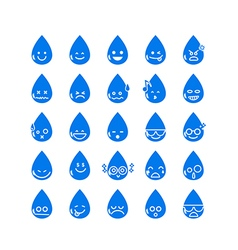 Collection of difference emoticon icon of water vector image