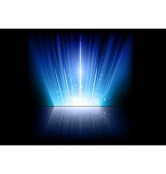 flare blue mirror vector image vector image
