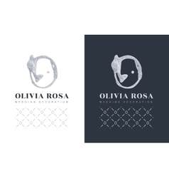 Luxury logo with a stylized letter O on black vector image