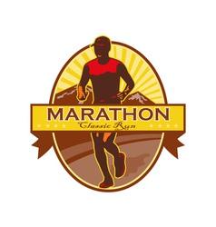 Marathon Classic Run Retro vector image