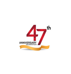 47 anniversary design logotype red color vector