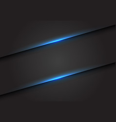 abstract blue light line slash on dark grey vector image