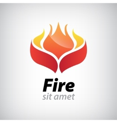 Abstract fire icon vector