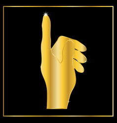 abstract gold touch point hand vector image vector image