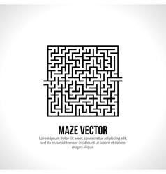Abstract maze logo Logo icon concept vector