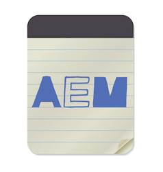 Aem lettering notebook template vector