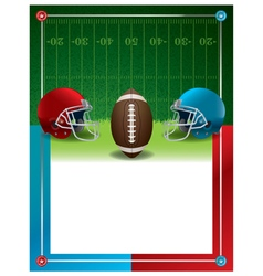 American Football Party Template vector image