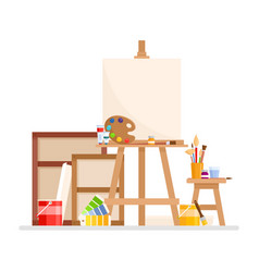 Art studio interior vector