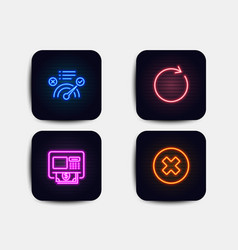 atm synchronize and correct answer icons close vector image