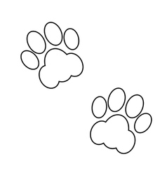 black animal footsteps vector image
