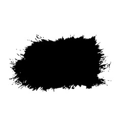 Brush stroke isolated white background black vector