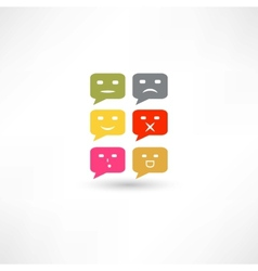 bubble speech emotions color vector image
