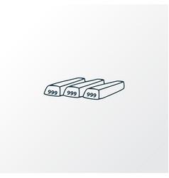 bullion icon line symbol premium quality isolated vector image