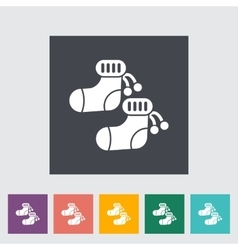 Children socks icon vector image