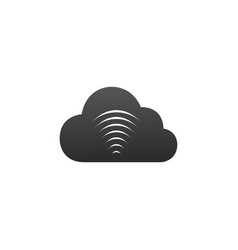 cloud wifi icon to use in web and mobile ui vector image