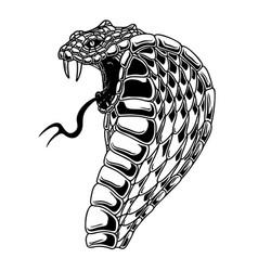Cobra snake design element for poster card banner vector