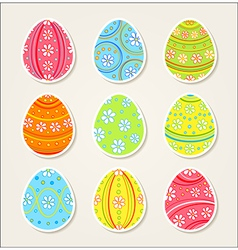 Collection easter stickers vector
