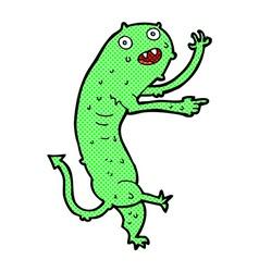 Comic cartoon gross little monster vector