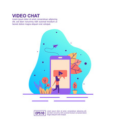 concept video chat modern conceptual for vector image