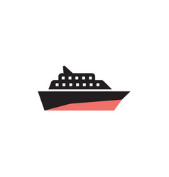 cruise ship transportation icon design template vector image