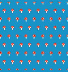 Cute mushroom seamless kids repeat pattern vector