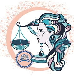 Decorative Zodiac sign Libra vector
