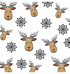 Deer cartoon icon Merry Christmas graphic vector