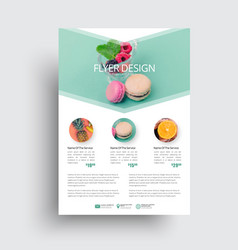 design flyer with a place for a photo in the form vector image