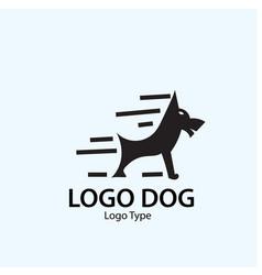 dog logo designs vector image