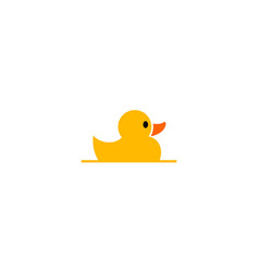 duck yellow cute animal logo design vector image