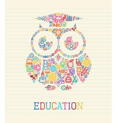 Education wisdom owl concept vector image