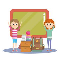 elementary school cartoon vector image