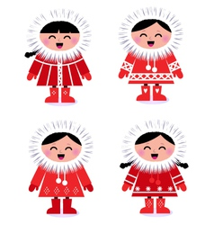 eskimo collection vector image