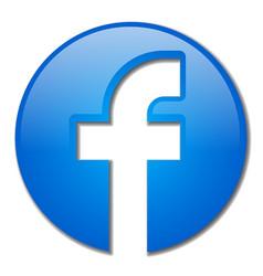 facebook icon app vector image