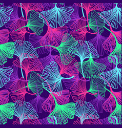 Floral tropical background in neon colors vector