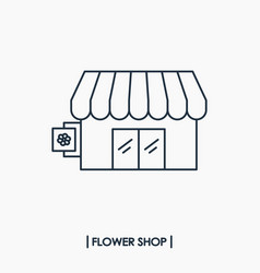 Flower shop icon vector