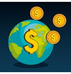 global economy design vector image
