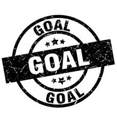 Goal round grunge black stamp vector
