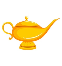 Golden lamp with lid on vector image