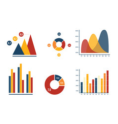 Graph and pie chart business marketing vector