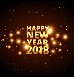 happy new year 2018 card design with glowing vector image
