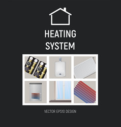 heating system design vector image