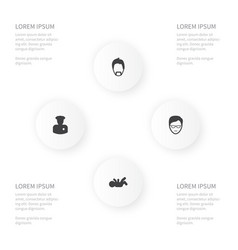 icon people set of modern gentleman played vector image