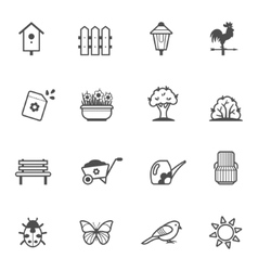 icon set of garden tools and accessories vector image