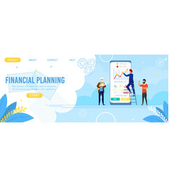 Landing page advertise app for financial planning vector