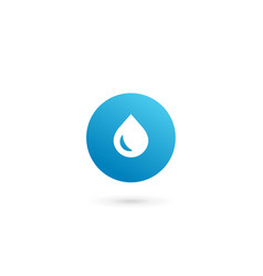 letter o water drop logo icon design template vector image