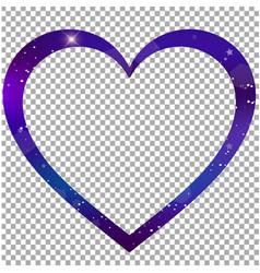 Magical heart shaped border photo frame clip art vector