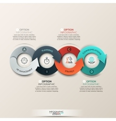 Modern infographics options banner with 4-part vector