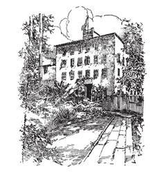 Napoleons birthplace ajaccio vintage vector